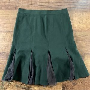Moschino Cheap and Chic Pleated Olive Skirt SZ 6